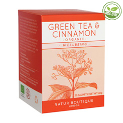ORGANIC GREEN TEA & CINNAMON 20 ПАКЕТИКОВ